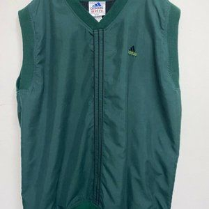 Vintage Men's Adidas Golf Vest Sleeveless Green